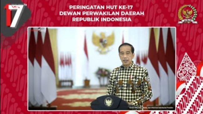 Presiden Jokowi: Atas Nama Masyarakat Bangsa dan Negara, Selamat HUT Ke-17 DPD RI