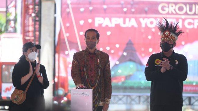 Jokowi Resmikan Groundbreaking Papua Youth Creative Hub di Jayapura