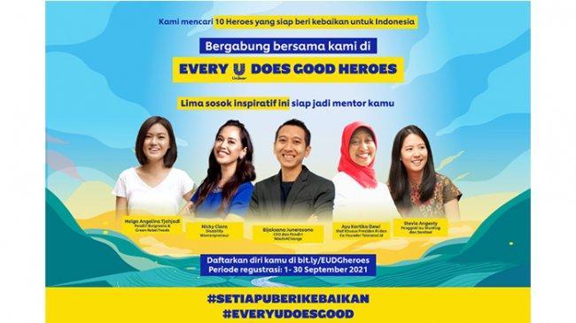 Millennial, Saatnya Wujudkan Perubahan lewat 'Every U Does Good Heroes' Unilever Indonesia!