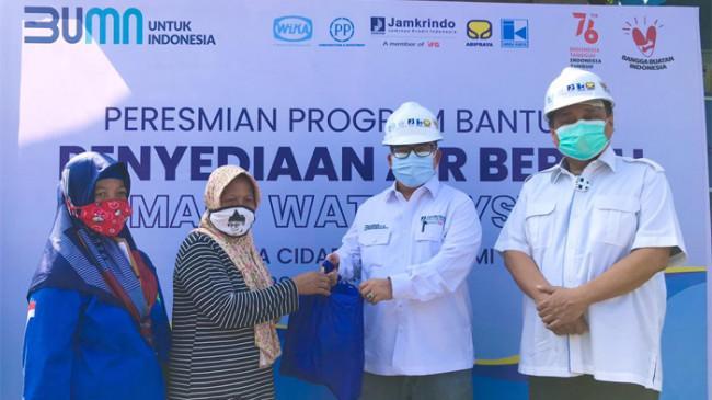 Jamkrindo Terlibat dalam Kolaborasi Penyediaan Air Bersih Senilai Rp 1,5 Miliar