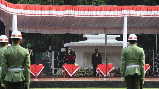 Puan Bacakan Ikrar di Upacara Peringatan Hari Kesaktian Pancasila