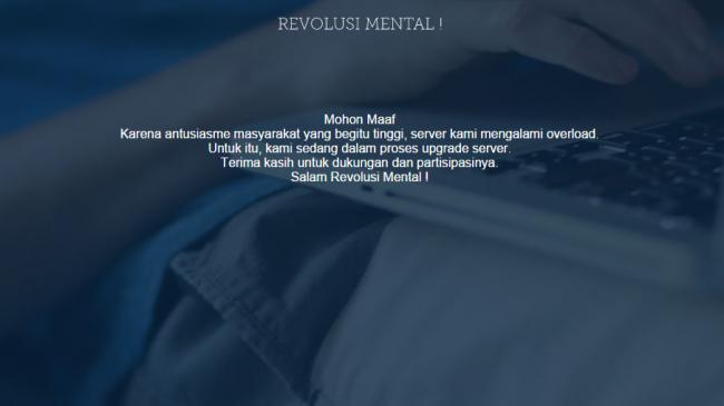 Website Revolusi Mental Bisa Diakses Publik Pekan Depan