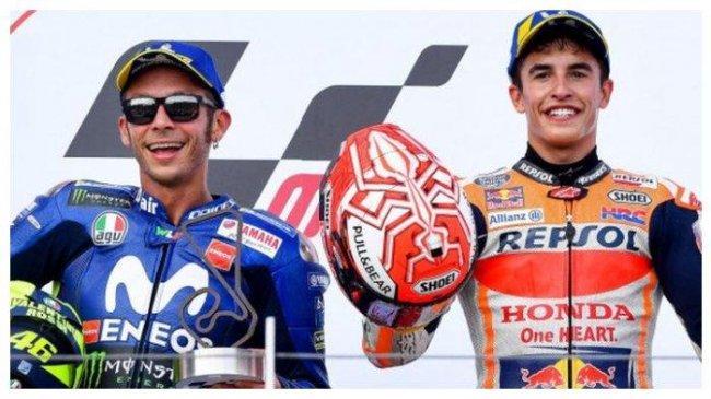 Curahan Hati Valentino Rossi yang Selalu Dibuat Resah Marc Marquez Kala Balapan di MotoGP