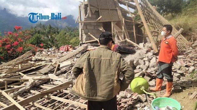 Terdampak Gempa Bumi, Seorang Warga di Karangasem Meninggal, Puluhan Lainnya Luka-luka