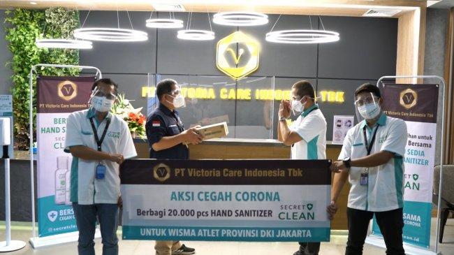 RS Darurat Covid-19 Wisma Atlet Terima Puluhan Ribu Hand Sanitizer