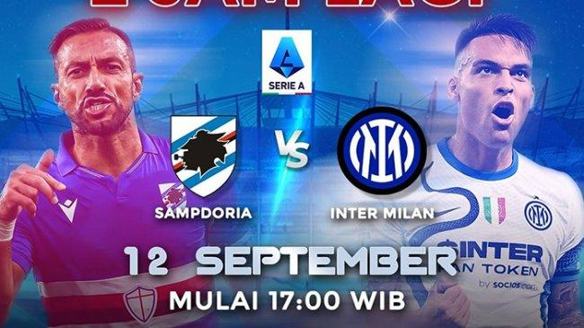 Live Streaming RCTI+, Sampdoria vs Inter Milan Pukul 17.00 WIB, Liga Italia, Tonton Via HP