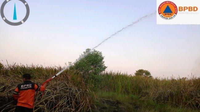 Satgas Gabungan Ogan Ilir Berhasil Padamkan 7 Ha Lahan Terbakar