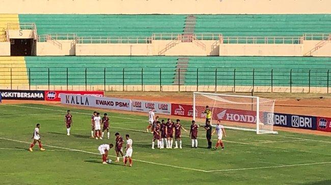 Hasil PSM Makassar vs Bali United di Babak Pertama Liga 1, Hilman Syah Gemilang, Skor Imbang 0-0