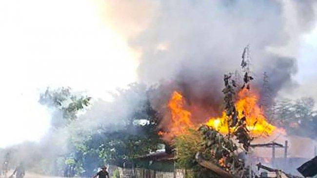 Militer Myanmar Lancarkan Serangan Udara Ke Kelompok Perjuangan Bawah Tanah