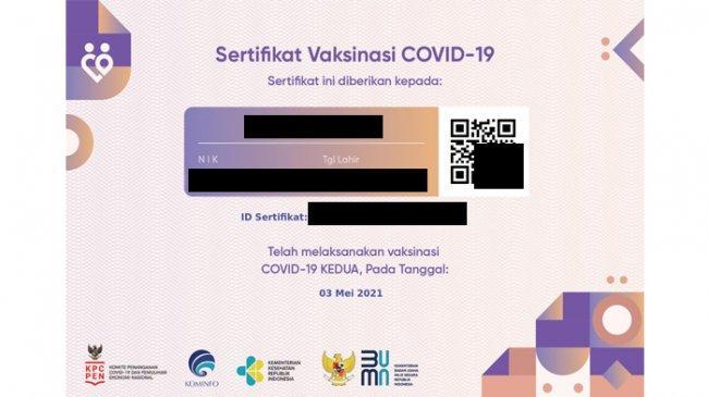 Download Sertifikat Vaksin Covid-19 ke-1 dan ke-2 di pedulilindungi.id, Ini Solusi jika Data Salah
