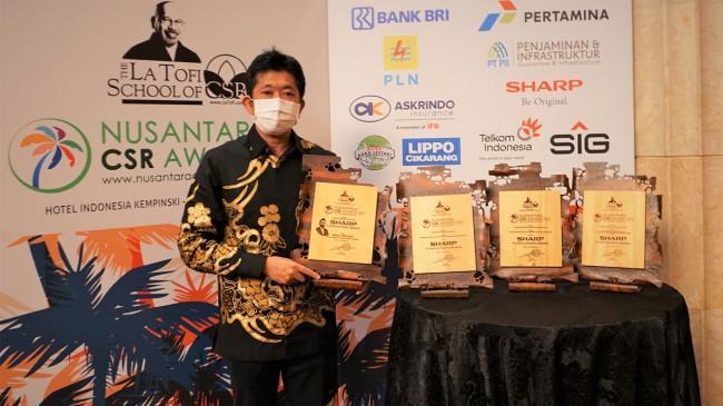 Presdir Sharp Indonesia Sabet 4 Award di Ajang NCA 2021