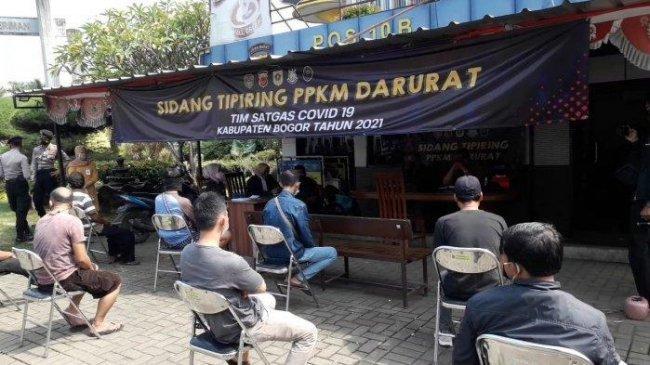 694 Orang Pelanggar PPKM Darurat di Kabupaten Bogor Disidang, Kenda Denda Rp 100 Ribu