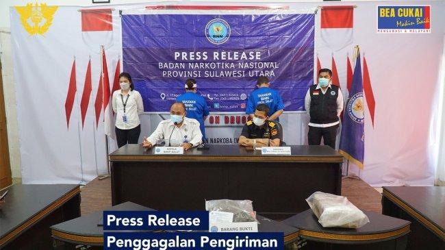 Bea Cukai dan BNN Gagalkan Pengiriman Paket Kerupuk Berisi Ganja ke Sulawesi Utara