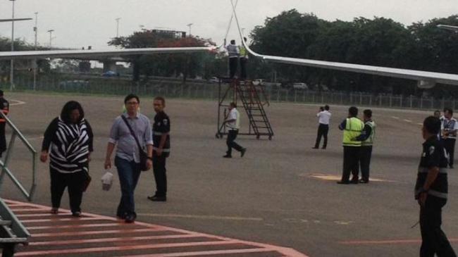 Pesawat Sriwijaya Air Saling Senggolan di Bandara Soekarno-Hatta