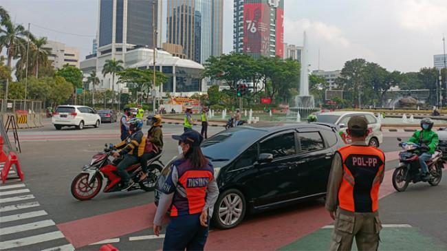Penerapan Ganjil Genap di Jalan MH Thamrin Lancar, Polisi Akui Masyarakat Sudah Mulai Patuh