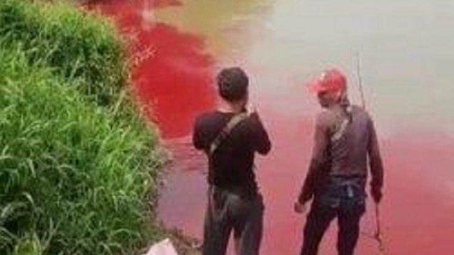 Viral Air Sungai Cisadane di Serpong Berubah Merah, Ini Penjelasan Satpol PP Tangerang Selatan