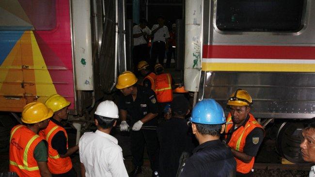 Polisi Duga Asisten Masinis Langgar Signal di Stasiun Juanda