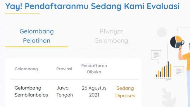 CEK Seleksi Kartu Prakerja Gelombang 19 di www.prakerja.go.id atau SMS, Diumumkan Rabu atau Kamis?