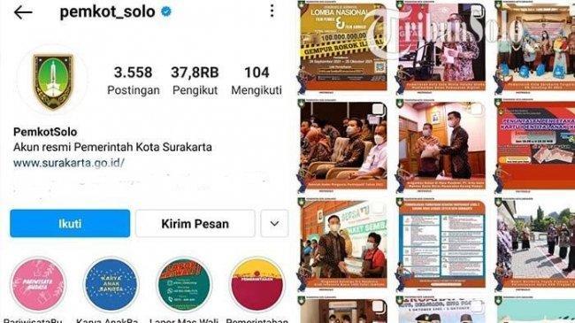 Kronologi Instagram Pemkot Solo Di-Hack, Gibran Beri Respon: Kita Laporkan ke Facebook