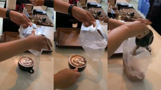 Viral Latte Dibungkus Pakai Plastik, Barista Ini Kaget Videonya Ditonton Lebih dari 38 Juta Kali
