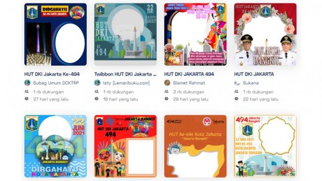 Twibbon Gambar Ucapan Selamat HUT ke-494 DKI Jakarta, Ini Tema Ulang Tahun Jakarta 2021