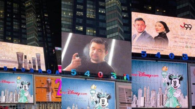 Akbar Rais Susul Raffi Ahmad dan Nagita Slavina Tampil di Billboard Times Square New York