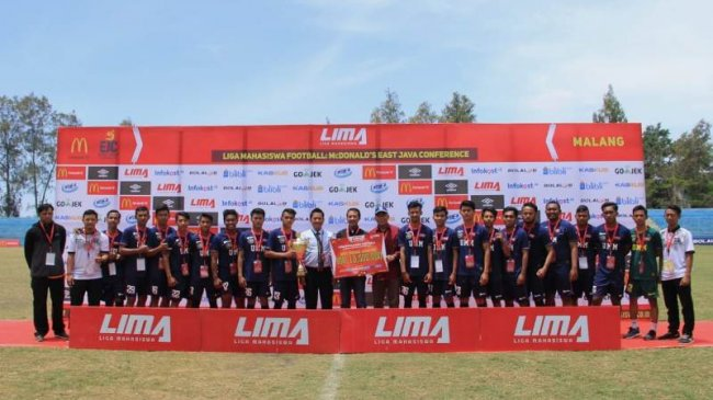 Universitas Muhammadiyah Malang Juara LIMA Football Jawa Timur