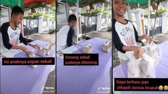 VIRAL Cerita Bocah Jualan Nasi Bungkus di Pinggir Jalan sambil Belajar, Ini Kisah Lengkapnya