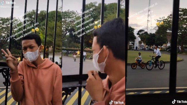 VIRAL Remaja sedang Santai di Gedung Agung, Tiba-tiba Disapa Presiden Jokowi, Ngaku Kaget dan Senang