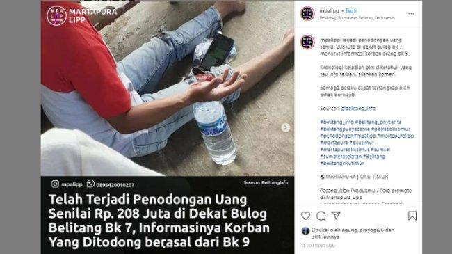 Viral Petani di OKU Timur Dirampok, Uang Rp210 Juta Raib Digondol Pelaku, Ini Kronologinya