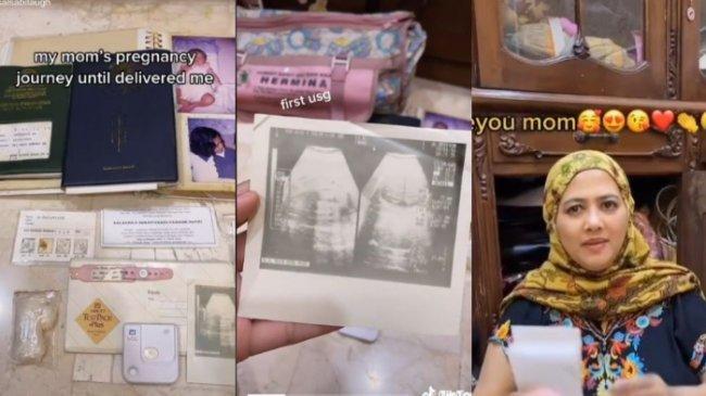 VIRAL Video Haru Ibu Simpan Barang Kenangan Semasa Hamil, Ada Test Pack hingga Foto Hasil USG