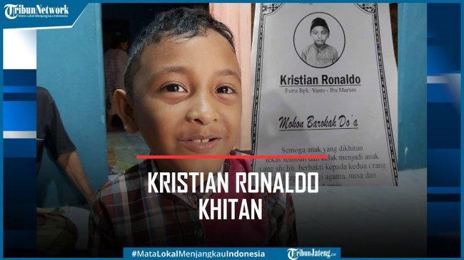 Viral Undangan Sunat Bocah Bernama Kristian Ronaldo asal Pekalongan, Ini Kisah di Baliknya