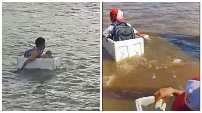 POPULER Regional: Bocah Seberangi Sungai Naik Styrofoam   Jasad Wanita Ditemukan Tinggal Kerangka
