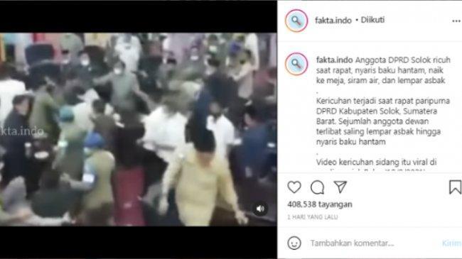 Viral Video Sidang Paripurna DPRD Solok Berakhir Ricuh, Bupati: Saya Tidak Boleh Ikut Campur