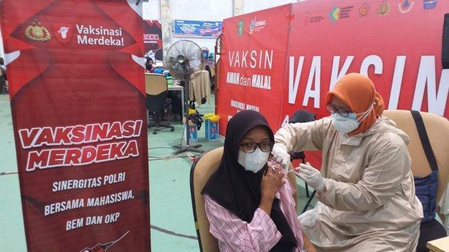Sinergitas Polri dengan Mahasiswa Gelar Vaksinasi Merdeka di Kukar, Siapkan 2.000 Dosis Vaksin