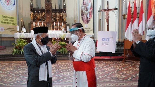 Wapres Tinjau Penerapan Protokol Kesehatan di Masjid Istiqlal dan Gereja Katedral