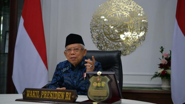 Percepat Vaksinasi, Wapres Ma'ruf Amin Minta TNI-Polri Perkuat Sinergi dengan Pemerintah Daerah