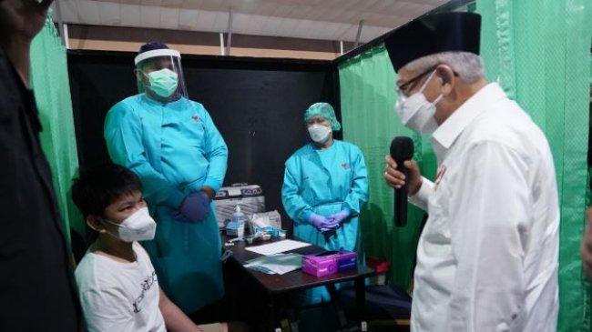 Wapres Ma'ruf Tinjau Pelaksanaan PTM di SMAN 19 Kabupaten Tangerang