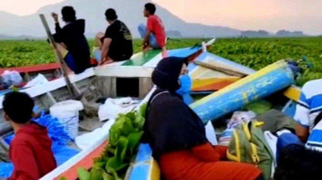 23 Orang Terjebak di Waduk Jatiluhur Purwakarta, Perahu Tersangkut Eceng Gondok