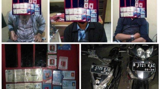 37 Kali Peras Warga hingga Ratusan Juta, 3 Wartawan Gadungan Ditangkap di Jalan Raya Cileungsi