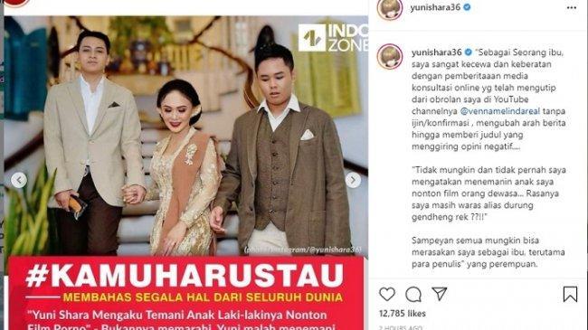 Selalu Dikaitkan dengan Raffi Ahmad, Yuni Shara Geram Sebut Bingung Sama Tingkah Laku Netizen