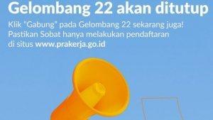 Pendaftaran Kartu Prakerja Gelombang 22 Ditutup Malam Ini, Segera Akses www.prakerja.go.id
