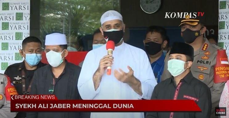 Jenazah Ulama Syekh Ali Jaber dimakamkan di Pondok Pesantren Daarul Quran, Tangerang.