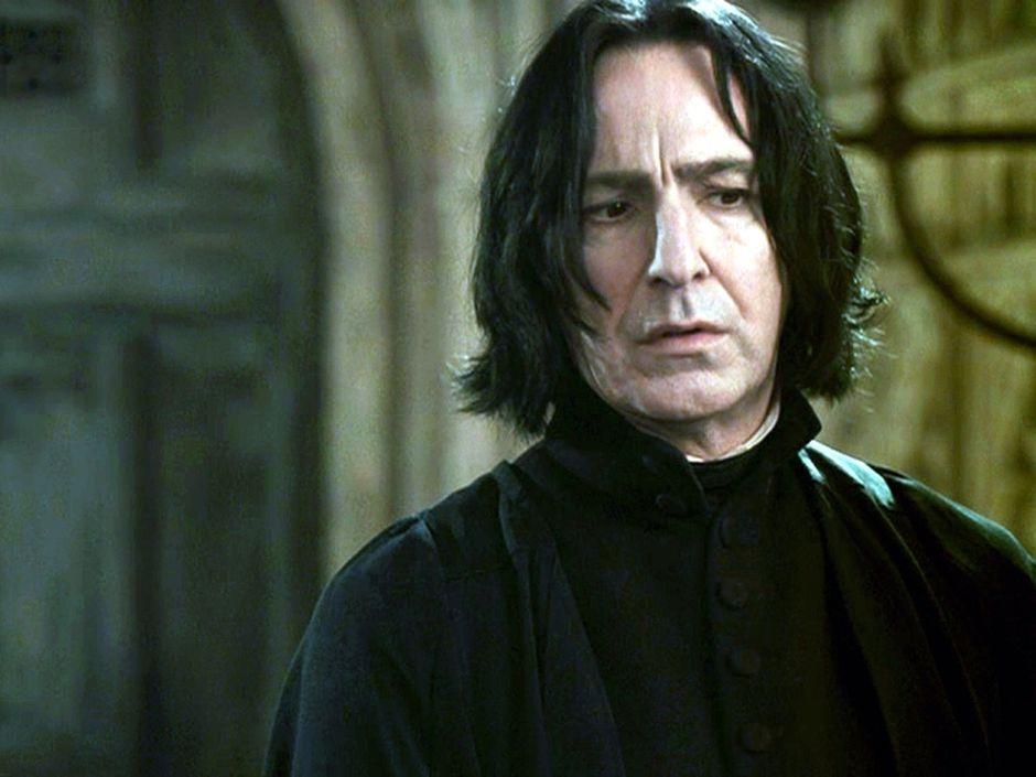 Alan Rickman sebagai Professor Snape di Film Harry Potter