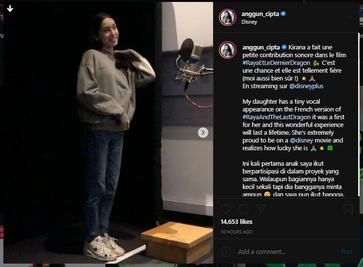 Anggun mengunggah potret <a href='https://manado.tribunnews.com/tag/sang-putri' title='sangputri'>sangputri</a> tanpa sensor di akun Instagram