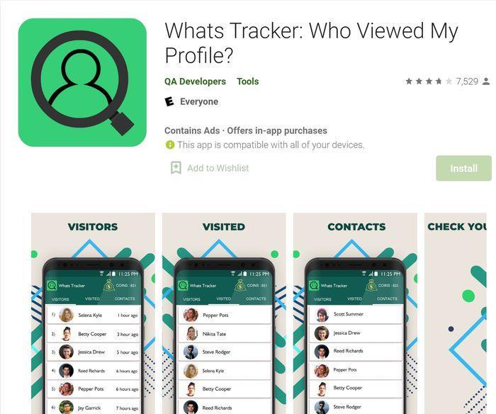Aplikasi Whats Tracker di Google Play