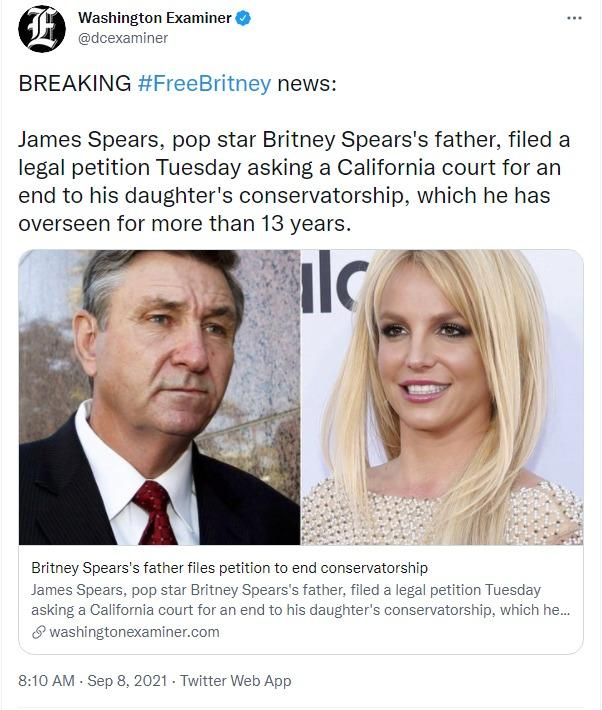 Ayah Britney Spears mengajukan petisi untuk mengakhiri konservatori