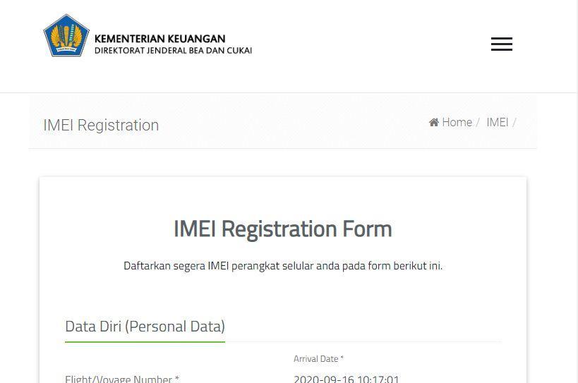 Cara Mendaftarkan IMEI di situs Bea Cukai