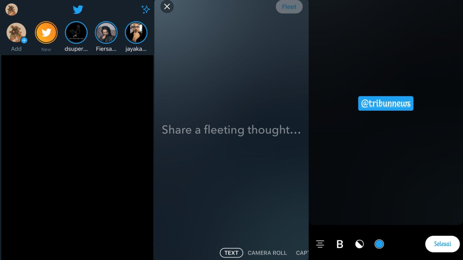 Tangkap layar Fitur Fleet Twitter. Ini cara menggunakan Fitur Fleet Twitter atau Twitter Story