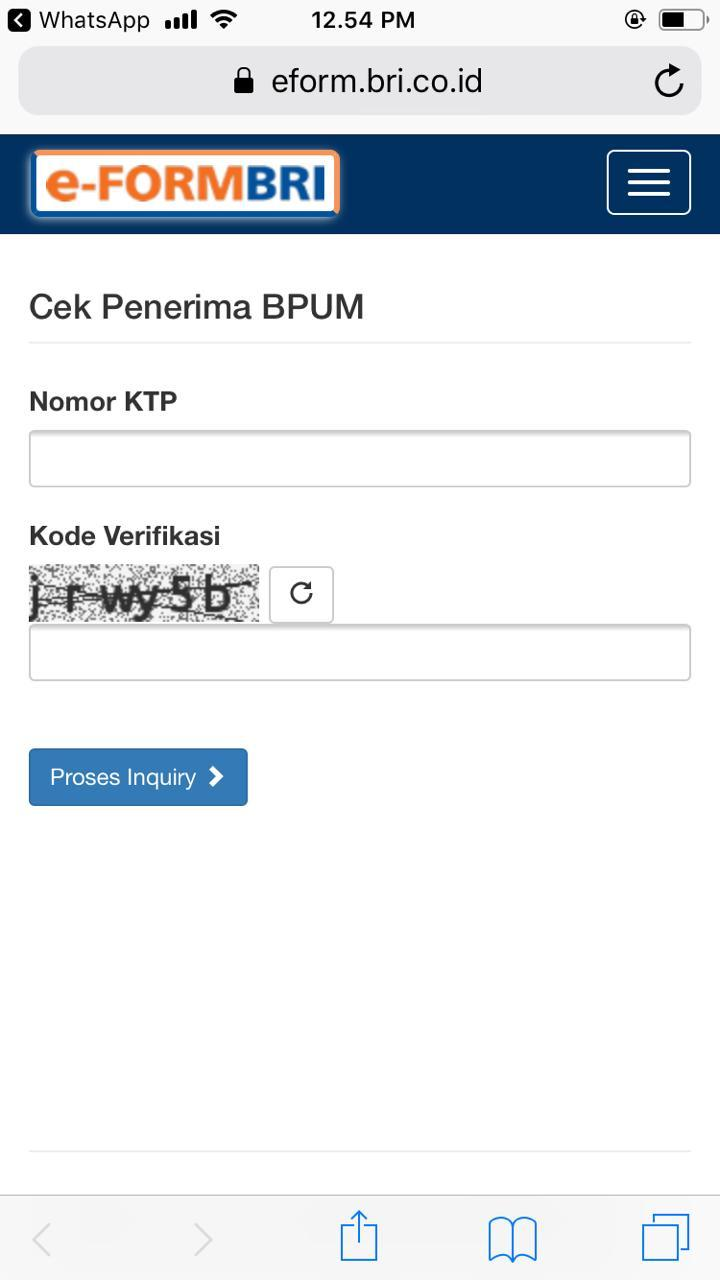 Image Result For Cek Eform Bri